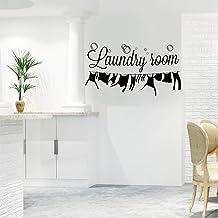 Autocollant Mural de Buanderie, Vinyle Art Lettrage Citations Murales de Laundry Room, Amovible Art Bricolage Autocollant ...