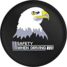 "Autoca Universal 14"" Spare Tire Cover Wheel Protectors Weatherproof PU Leather for Jeep, Trailer, RV, SUV, Truck,Honda CRV,Toyota(Tire Diameter 23"
