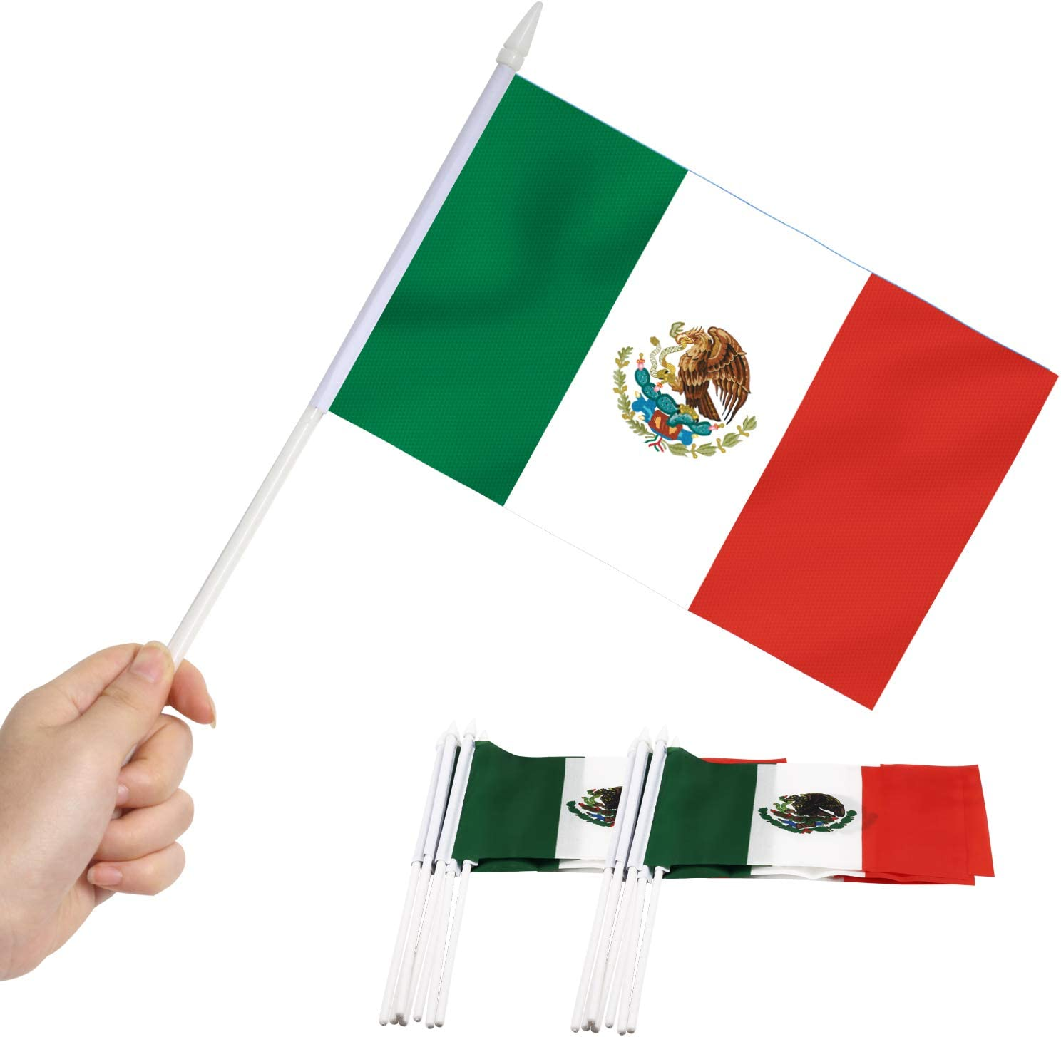 Anley Mexico Mini Sale SALE% OFF Flag 12 Pack Held High quality new Mexic Miniature Small Hand -
