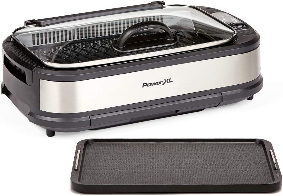 PowerXL Smokeless Grill Be super welcome with Tempered Glass Turbo Speed Lid Max 52% OFF and