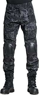 Tactical Pants Shirt with Knee Pads Army Airsoft Combat BDU Pants Shirt Typhon