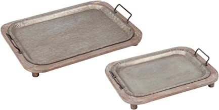 Foreside FDAD03967 Home and Garden Terrain Trays, Set of Two, 2 Piece