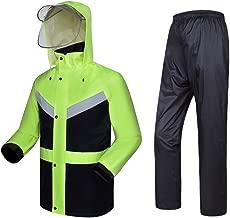 XXHDYR Regenmantel Anzug Herren und Damen Jacke Hose Anzug Mantel Motorrad Regenmantel Winddicht wasserdicht Regenmantel wasserdichter Poncho (Size : XL)