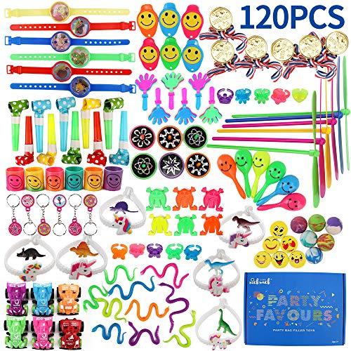 nicknack Goodie Bag Fillers para niños, 120PCS Prize Box Fillers, Regalos de Fiesta de cumpleaños Surtidos para niñas, premios de Carnaval, premios de Clase