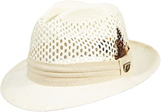 STACY ADAMS Pinch Front Vented Toyo Fedora Hat