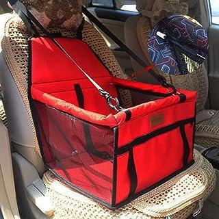 ROYWY Gato Perro Asiento de Carro Cesta de Transporte de Seguridad,Asiento de Coche Plegable para Mascotas,Portátil Pequeño Perro Gato Coche,C