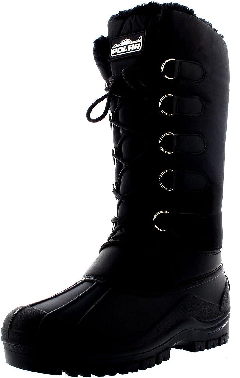 Womens Muck Lace Up Rain Nylon Durable Winter Snow Duck Mid Calf Boots