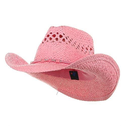 56dceffa064 MG Womens Straw Outback Toyo Cowboy Hat