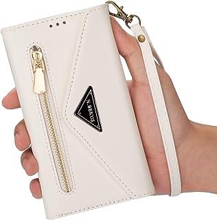 حقيبة هاتف خلوي للنساء من EnjoyCase مناسبة لهاتف Samsung Galaxy A51، صغيرة من جلد البولي يوريثان ومزودة بسحاب محفظة وحقيبة...
