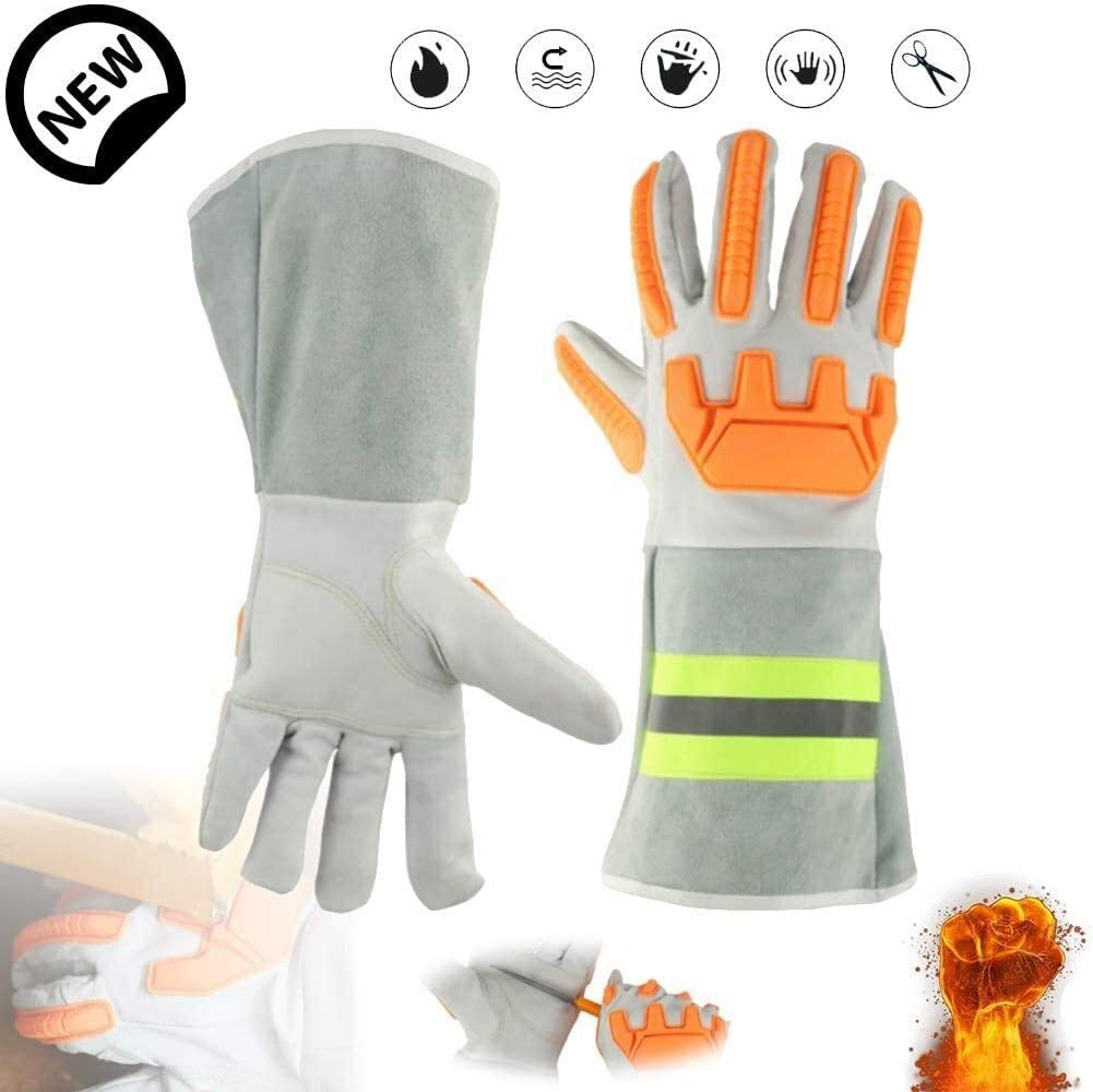 Welding Gloves Heat Resistant Weldin Leather Bombing free Wholesale shipping Forge