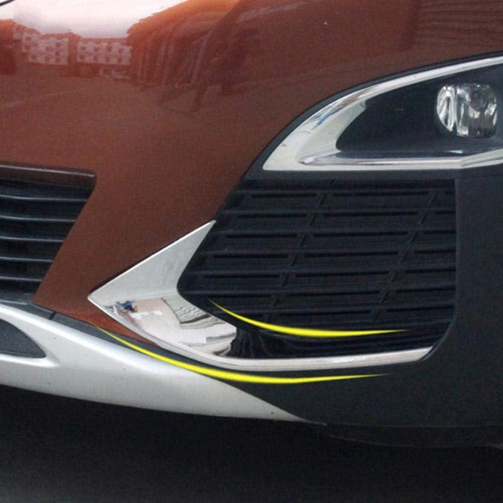 YXNVK ABS Bright Chrome Front Head Fog Light Foglight Lamp Eyelid Eyebrow Cover Trim,For Peugeot 3008 3008GT 2017 2018
