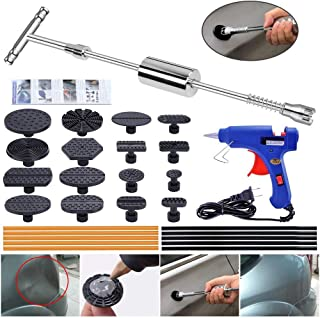 YOOHE Paintless Dent Repair Puller Kit - Dent Puller Slide Hammer T-Bar Tool with 16pcs Dent Removal Pulling Tabs for Car ...