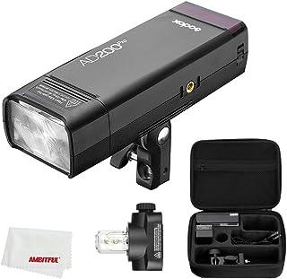 Godox AD200Pro 200Ws TTL 2.4G 1/8000 HSS luz de Flash para Exteriores con batería de 2900 mAh 0.01-1.8s Reciclaje