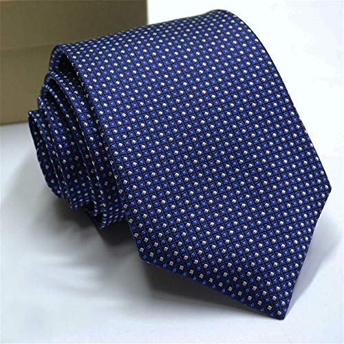 Zjuki Krawatte Silk Mens Ties Krawatten 8 cm Dot Krawatten für Männer Formale Geschäfts Hochzeit Gravatas Männer Zubehör Krawatte C