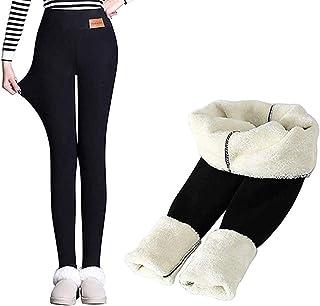 Blssom Legging Doubl/é en Polaire Thermique pour Femme Pantalon Chaud Taille Haute Garder Chaud Long Pantalon Yoga Legging Surdimensionn/é Pantalon Chaud dhiver /À Taille Haute