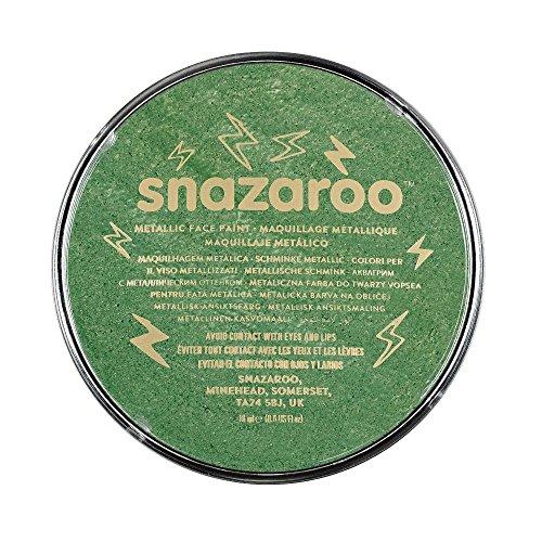 Snazaroo- Face and Body Paint, 1118422, Vert Électrique, Taille Unique