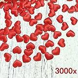 JZK 3000 pz 13mm coriandoli Cuore Rossi Cuoricini Stoffa 3D Decorazione Tavolo per Matrimonio Compleanno San Valentino Battesimo Addio al Nubilato