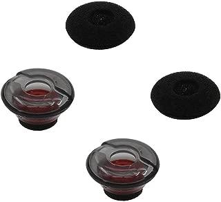 ALXCD Gel Eartips for Plantronics Voyager 5200 Headset, Medium Size 2 Pcs Soft Gel Ear Tips & 2 Pcs Foam Cover Tips, Fit for Plantronics Headset Voyager 5200 (Medium)