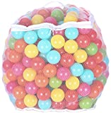 BalanceFrom 2.3-Inch Phthalate Free BPA Free Non-Toxic Crush Proof Play Balls Pit Balls- 6 Bright Colors in Reusable and Durable Storage Mesh Bag with Zipper, 400-Count