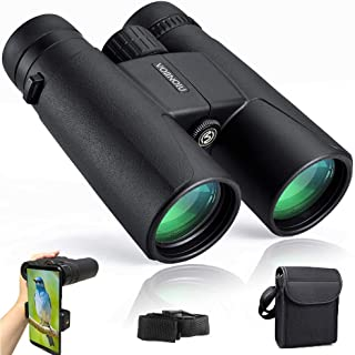 Binoculars for Adults Compact,12x42 HD Professional Binocular with Clear Weak Light Night Vision,Easy Focus Binoculars for Birds Watching,Concerts,Outdoor Hunting,Travel with Phone Adapter