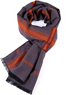 Scarves for men Scarf For Men: Classic Scarf Winter Scarf Soft Cozy Refined Long Blockheaded Plush Scarf Scarf (Color : Or...
