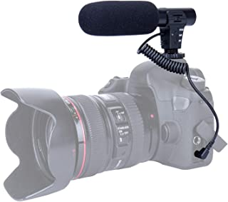 TKOOFN Micrófono Cámara Mic Micrófono Mono Externos Portátil Ligera Fácil para DSLR Canon Nikon Sony Pentax Cámara Videocámara Grabación Entrevista Vídeo (Interfaz de Audio de 35mm)