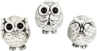 FAMICOZY Owl Figurine with Different Gestures,Cute Owl Statue,Adorable Decoration for..