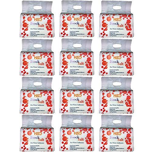 HSD Himalaya Zout Direct Blok Zout (12 Pack- 24 Blok Zout) Compatibel met alle Water Softner Machines Harvey's, Kinetico, Aquasol 100% Echte Britse Zoutblok, Blok Zout van Premium Kwaliteit