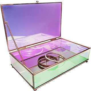 Moosy Life Aurora Borealis Jewelry Mirror Case