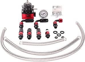 Fireshield Universal JDM Aluminum Billet Fuel Pressure Regulator Gauge Red Color