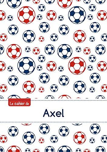 Le cahier d'Axel - Petits carreaux, 96p, A5 - Football Paris