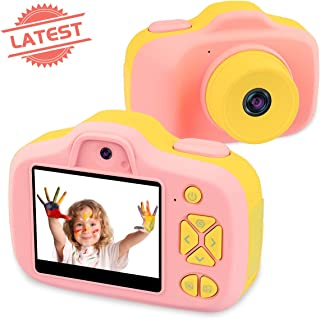Joytrip Kids Video Camera for Girls Gifts HD 2.3 Inches Screen 8.0MP Kids Digital Cameras Shockproof Children Selfie Toy Camera Anti-Fall Mini Child Camcorder for Child Age 3-14 (Pink)
