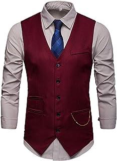 Men Waistcoat Slim Fit Western Waistcoat Tuxedo Tailcoat Men Waistcoat Men Suit Business Wedding Retro Elegant Vest Thin a...