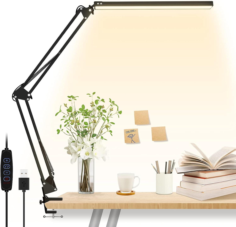 Overseas parallel import regular item LED Desk Lamp Office Light with Clamp Popular standard Eye-Caring 10