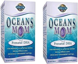 Garden of Life Ocean`s Mom Prenatal DHA 350mg Omega-3 DHA (30 Softgels) Pack of 2