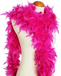 Cynthia's Feathers 65g Chandelle Feather Boas Over 80 Colors & Patterns to Pick Up (Fuschia)