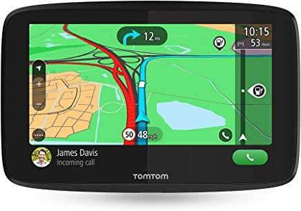 Navigatore TomTom GO Essential GPS 6 Pollici, Chiamata in Vivavoce, Siri & Google Now, Aggiornamenti Tramite Wi-Fi, Traffic a Vita da Smartphone e Mappe UE, Messaggi dello Smartphone