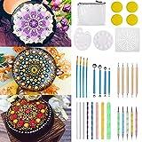 MeYuxg Kit Pintura Mandala 37 Piezas, Cuadros de Mandalas, Piedras para Pintar, Kit Manualidades Adultos Mandala, Used for DIY Drawing of Rock Paintings and Crafts Drawings, Mandala Dotting Tools Set