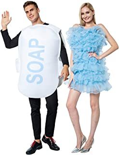 ReneeCho Couple Halloween Loofah & Soap Costume Adults Funny Matching Bubble Outfit Sets