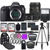Canon EOS 6D 20.2 MP Full-Frame CMOS Digital SLR Camera with Canon EF 50mm f/1.8 STM Lens + Tamron 70-300mm f/4-5.6 AF Lens + Accessory Bundle