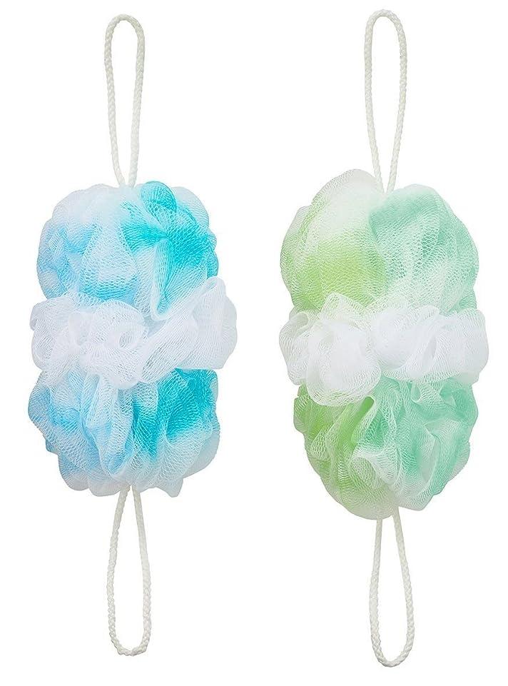 行政終わった呼吸するマーナ 背中も洗えるシャボンボールオーロラ2色セット(B&G)