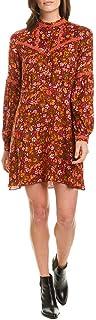 Anna Sui Womens Begonia Blend Shift Dress, 10, Brown