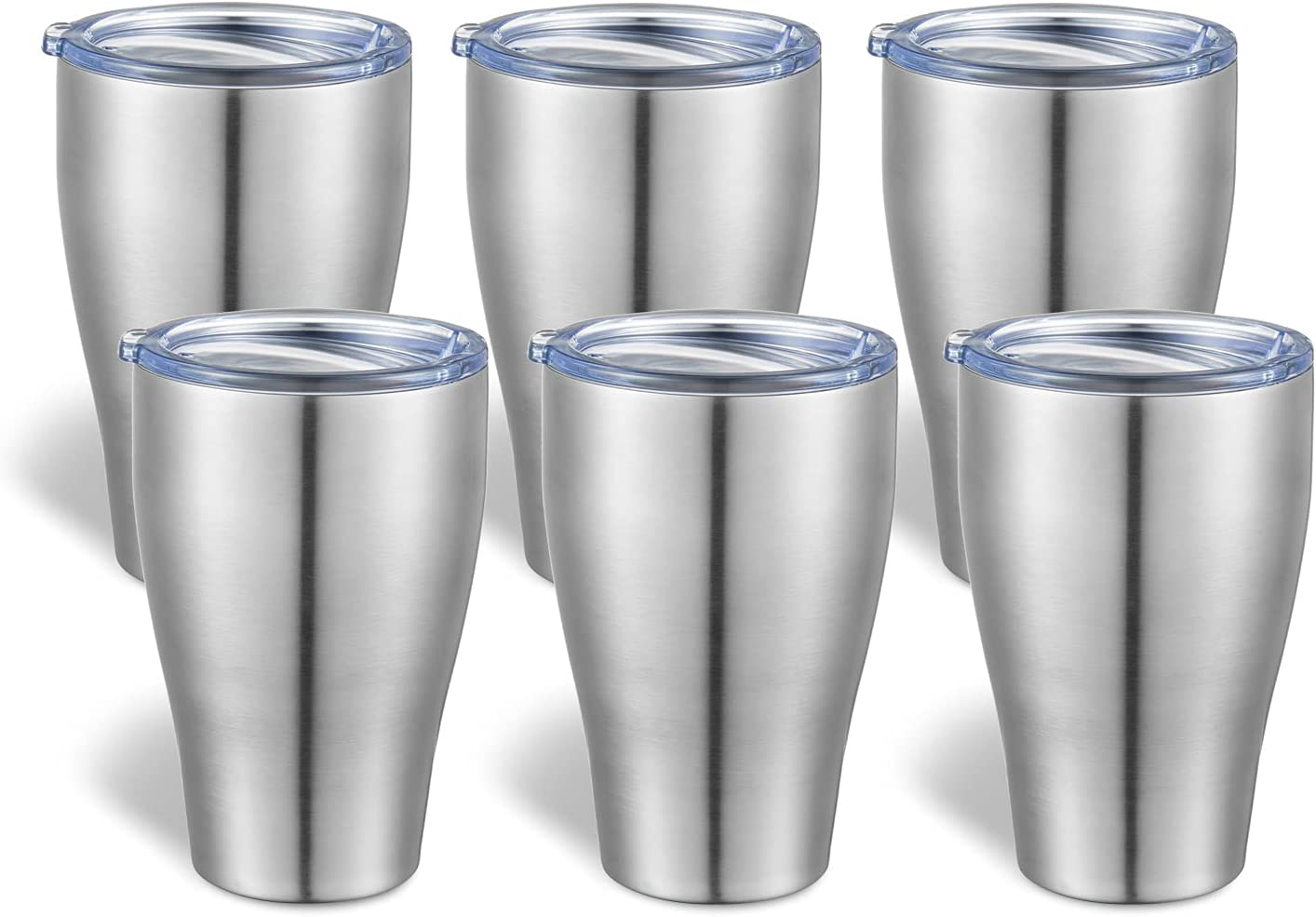 TUMZAK 12oz 6 Inventory cleanup selling sale Pack Stainless Steel Mail order cheap Lid Tumbler With Double Wall