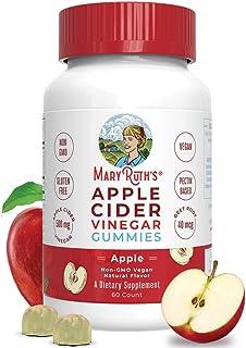 Apple Cider Vinegar Gummies by MaryRuth's, Immune Support with The Mother, Vegan, Non-GMO, Gluten-Free, 1 Month Supply (60...