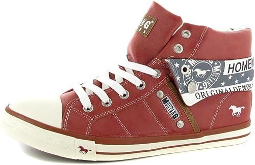 Mustang - Hauszapatos Altas para mujer, Color rojo, Talla 45