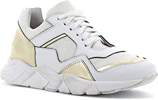 Once Sneakers in Pelle con Lacci, Made in Italy - Colore Bianco