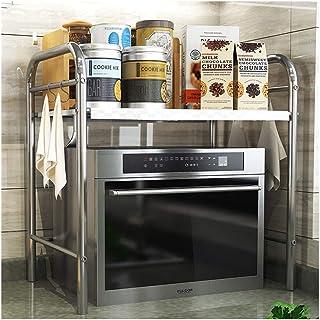 Dxbqm Étagères de Cuisine Organisateur de Rangement, étagère de Four à Micro-Ondes en Acier Inoxydable, Rangement pour ust...