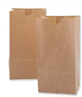 "SET of 100, Brown Kraft Paper Bags Store, Wine Bag, Lunch Bag, Gift Bag, Wedding Favor Bags,Grocery Bag 3 1/2"" x 2 x 6 1/2..."