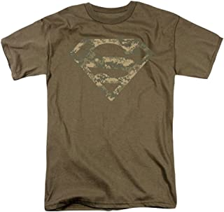 Superman Army Camo Shield Licensed Adult T-Shirt