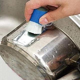 STRIR Herramientas de limpieza de cocina de Cocina del metal del acero inoxidable de la cocina mágica Óxido de limpieza Detergente palo de cepillo de lavar olla de cocina